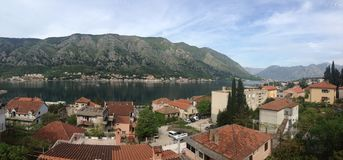 Kotor bay Panorama Stock Photography