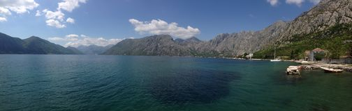 Kotor bay Panorama Stock Photo