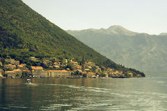 Kotor Bay, Perast city Royalty Free Stock Photo