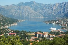 Kotor Bay. Royalty Free Stock Images