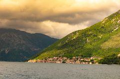 Kotor bay seascape on a background of mountains, Montenegro.  stock image