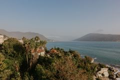 Kotor bay seascape, Montenegro - Image.  royalty free stock photography