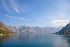 Kotor bay seascape, nature backgroung, Kotor, Montenegro. Kotor bay seascape, nature backgroung, Kotor in Montenegro royalty free stock image