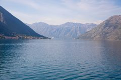 Kotor bay seascape, nature backgroung, Kotor, Montenegro. Kotor bay seascape, nature backgroung, Kotor in Montenegro stock image
