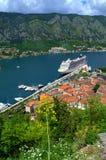 Kotor bay summer view, Montenegro Royalty Free Stock Images