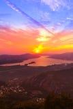Kotor Bay on sunset - Montenegro Stock Images