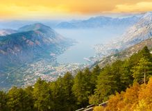 Kotor bay and town Stock Images