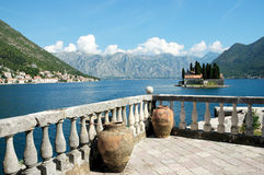 Kotor Bay view. Royalty Free Stock Photo