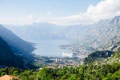 Kotor Bay view in Montenegro stock image