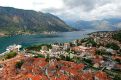 Kotor and Boka Kotorska, Montenegro Stock Photo