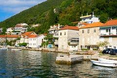 Kotor-Bucht, Montenegro, adriatisches Meer Lizenzfreie Stockfotos