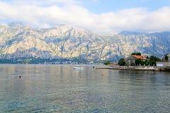 Kotor-Bucht, Montenegro, adriatisches Meer Stockbilder