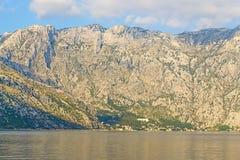 Kotor-Bucht, Montenegro, adriatisches Meer Stockfotografie