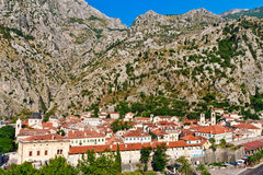 Kotor City with Fortifications, Montenegro Royalty Free Stock Image