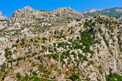 Kotor City with Fortifications, Montenegro Royalty Free Stock Photos