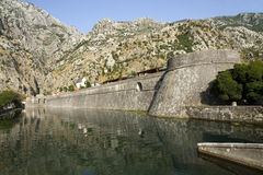Kotor city wall Royalty Free Stock Photos
