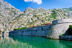 Kotor City Wall Fortifications, Montenegro Stock Photography