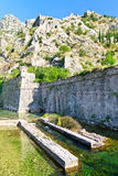 Kotor City Wall Fortifications, Montenegro Stock Images