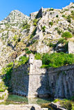 Kotor City Wall Fortifications, Montenegro Royalty Free Stock Photography