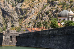 Kotor City Wall Fortifications Stock Photography