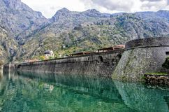 Kotor City Wall, Montenegro Royalty Free Stock Images