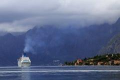 Free Kotor - Cruise Ship, Lake And Mountains Stock Image - 32009801