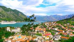 Kotor en la bahía Foto de archivo libre de regalías