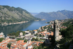 Kotor fjord Royalty Free Stock Photography