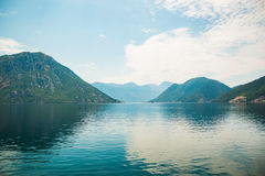 Kotor fjord i Montenegro, Europa royaltyfri bild