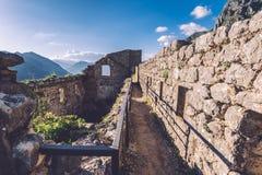 Kotor fortecy ściany Zdjęcia Royalty Free