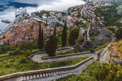 Kotor fortecy ściany widoki Zdjęcie Royalty Free
