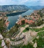 Kotor fortress and Bay Stock Image