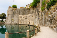 Kotor Gurdic gate and moat Stock Photography