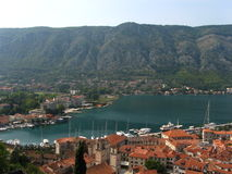 Kotor Habrour View Stock Images