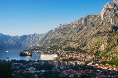 Kotor harbor and town Stock Images