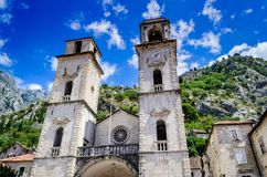 Kotor, igreja medieval de Montenegro, Balcãs fotografia de stock royalty free