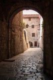 Kotor jest miasteczkiem przybrzeżnym w Montenegro Obraz Stock