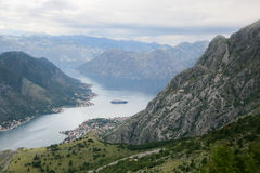 kotor montenegro залива Стоковые Фотографии RF