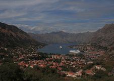 kotor montenegro arkivfoto