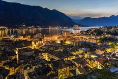 kotor montenegro Arkivfoton