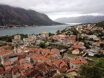 Kotor, Montenegro. Aerial view of Kotor during rainy day, Montenegro Royalty Free Stock Image
