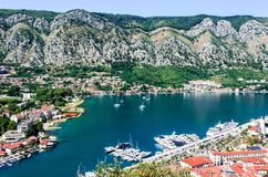 Kotor, Montenegro - alte mittelalterliche Stadt Stockfotografie