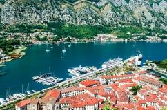 Kotor, Montenegro - alte mittelalterliche Stadt Lizenzfreies Stockfoto