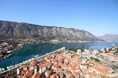 Kotor Montenegro. Boka Bay Kotor Montenegro historical town see life people nature Stock Photography