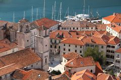 Kotor Montenegro. Boka Bay Kotor Montenegro historical town see life people nature stock photography