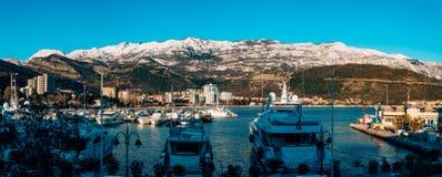 Kotor, Montenegro, Bucht, Hafen, Yachten, Yacht, Mittelmeer, adri Lizenzfreies Stockbild