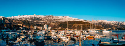 Kotor, Montenegro, Bucht, Hafen, Yachten, Yacht, Mittelmeer, adri Stockfotografie
