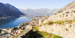 Kotor. Montenegro. Kotor Castle in Montenegro. Kotor Royalty Free Stock Image
