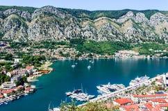 Kotor, Montenegro - cidade medieval velha fotografia de stock