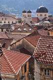kotor Montenegro dachy zdjęcie royalty free